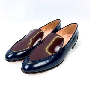 J. Crew Two-tone Academy Loafers, Leather